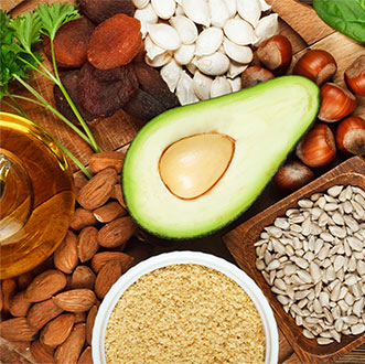 Avacado, grain and nuts
