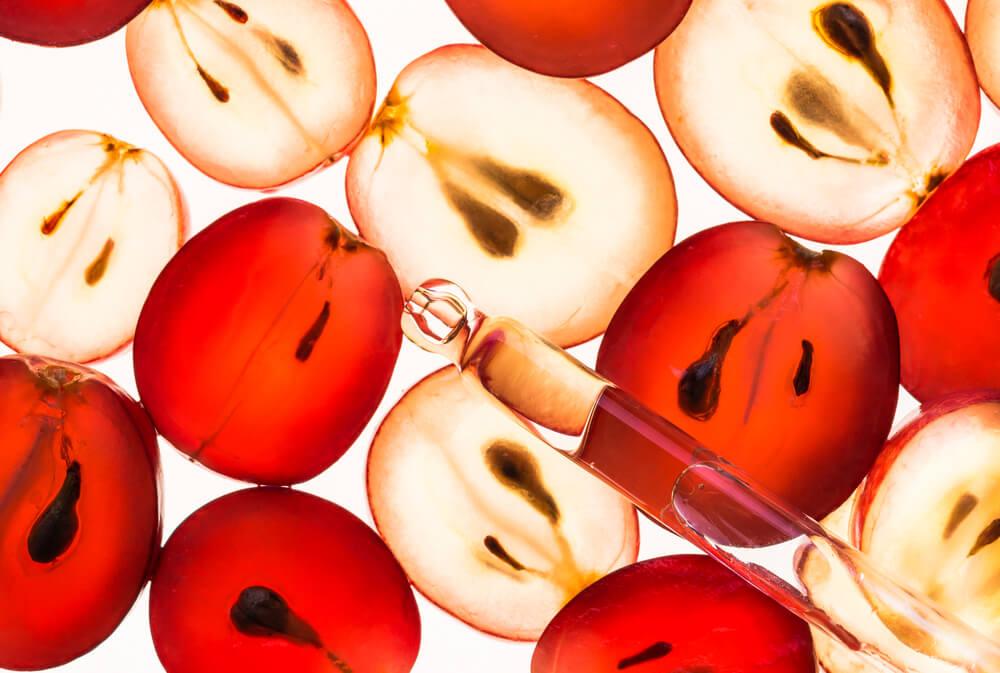 Grapes and serum dropper