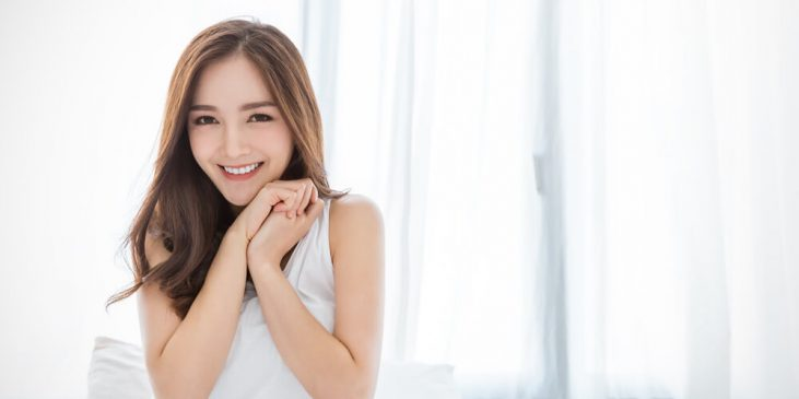 Woman with good skin